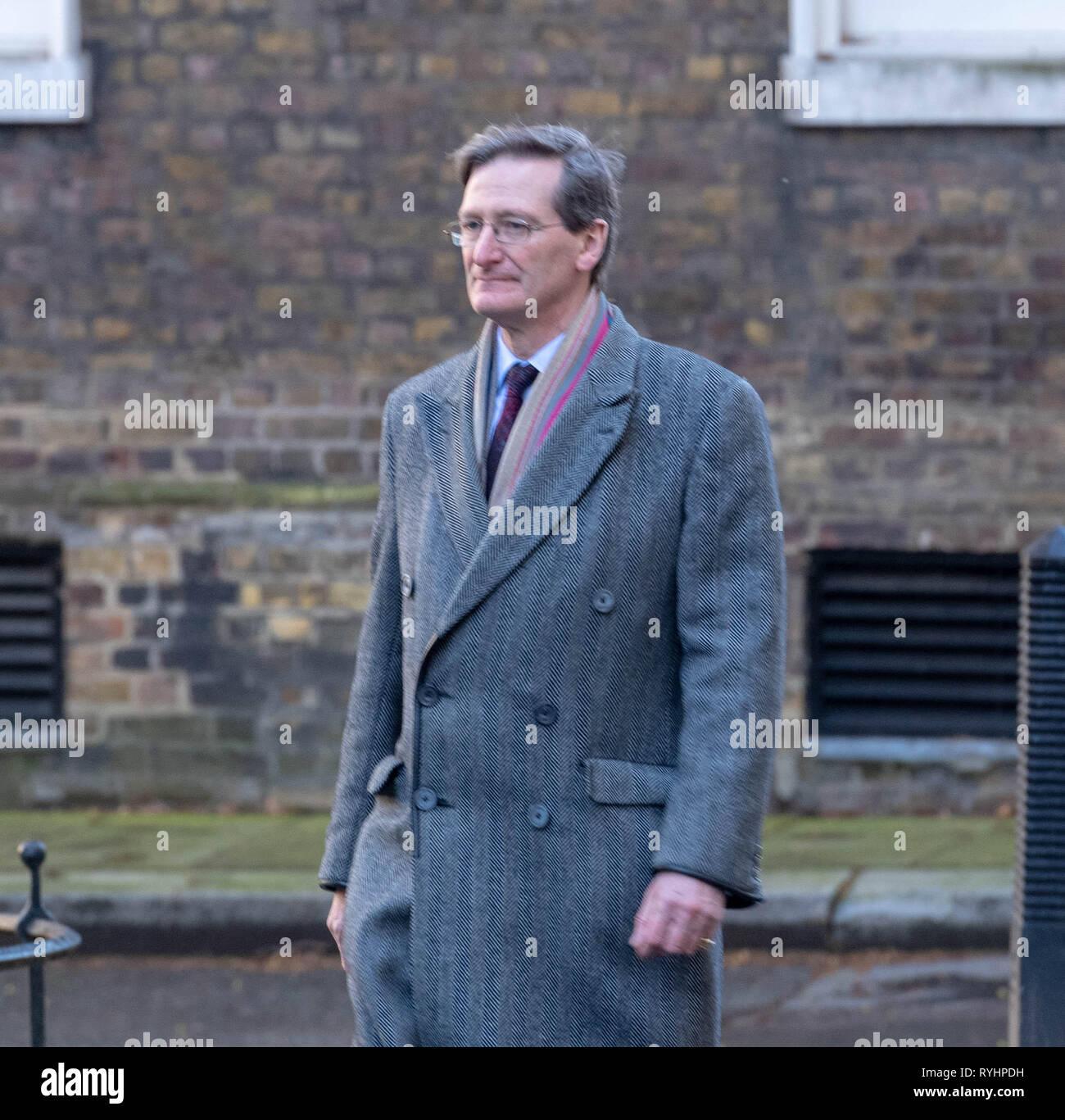 London, UK. 14th Mar 2019. Dominic Grieve MP arrives at 10 Downing Street, London Credit: Ian Davidson/Alamy Live News Stock Photo