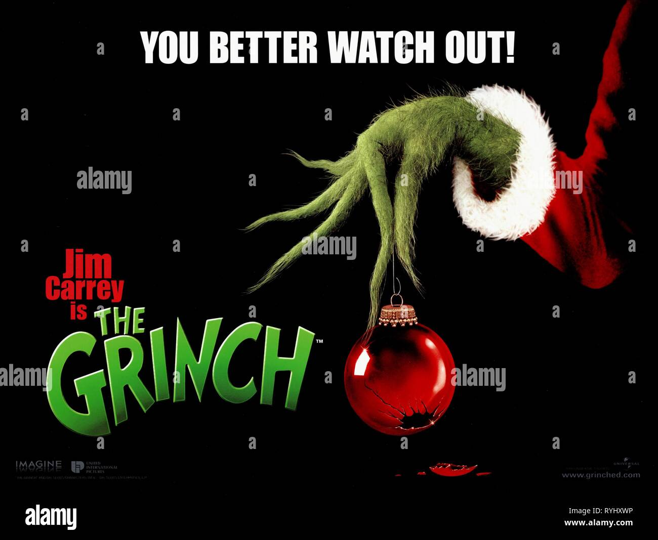 Film Poster How The Grinch Stole Christmas 2000 Stock Photo Alamy