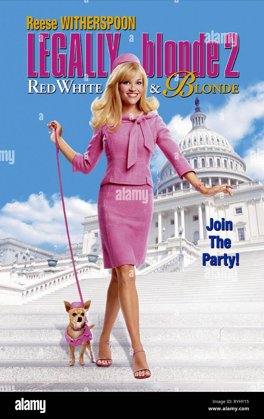 REESE WITHERSPOON WITH DOG, LEGALLY BLONDE 2: RED  WHITE and BLONDE, 2003 - Stock Image