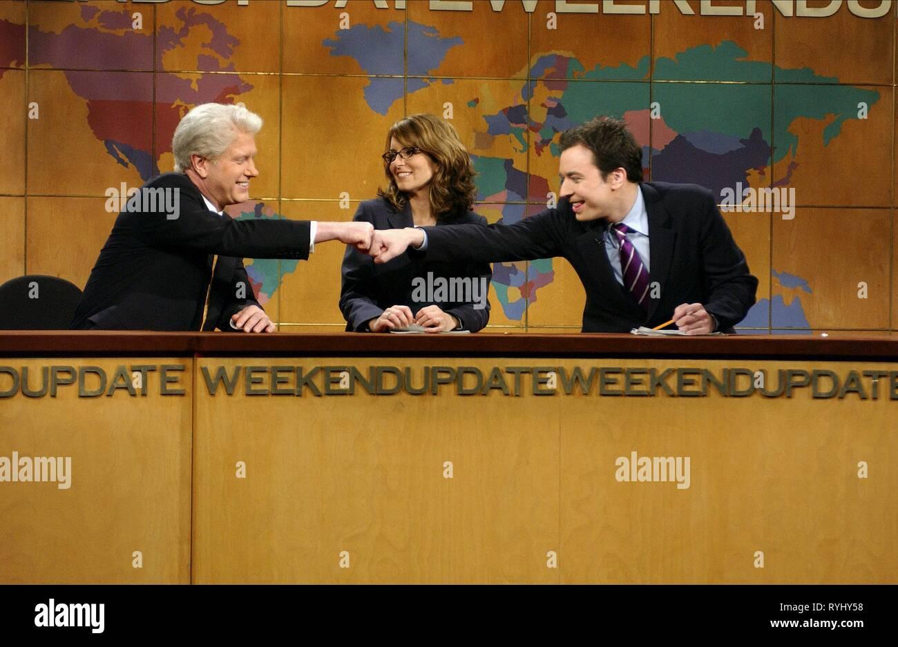 DARRELL HAMMOND (AS BILL CLINTON), TINA FEY, JIMMY FALLON, SATURDAY NIGHT LIVE, 2003 - Stock Image
