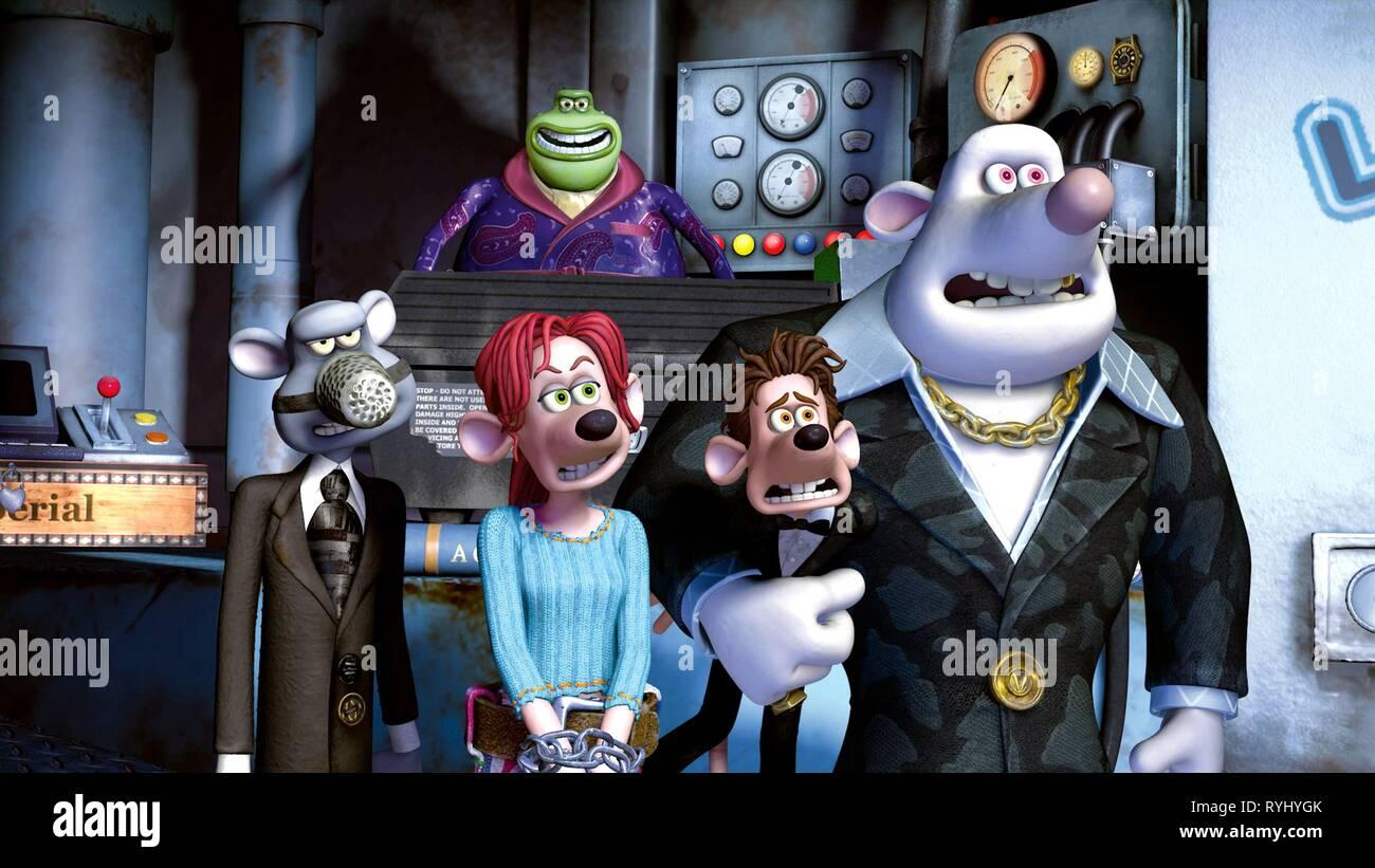SPIKE, RITA, RODDY, WHITEY, FLUSHED AWAY, 2006 - Stock Image