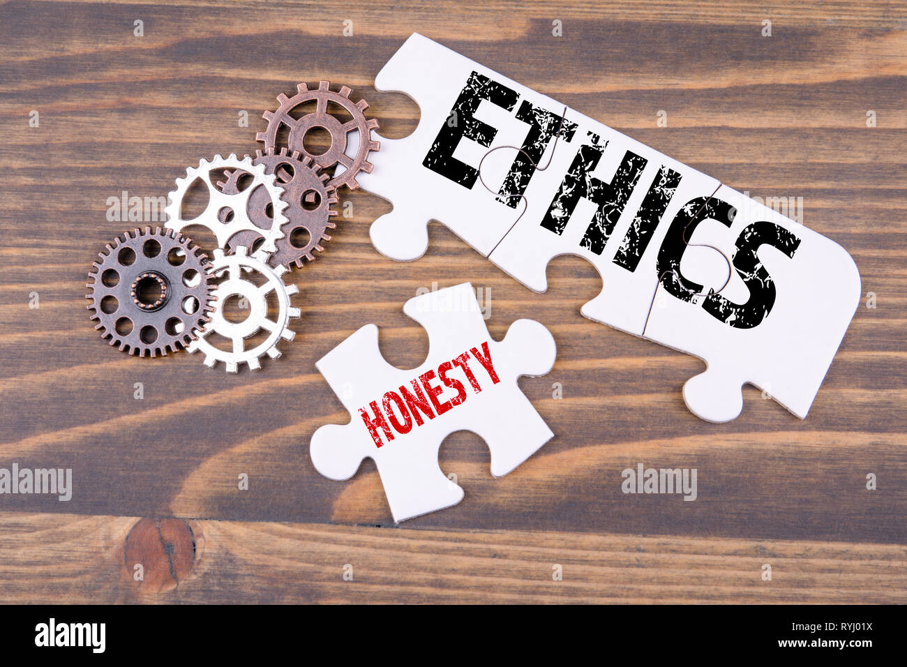 Ethics and honesty concept - Stock Image