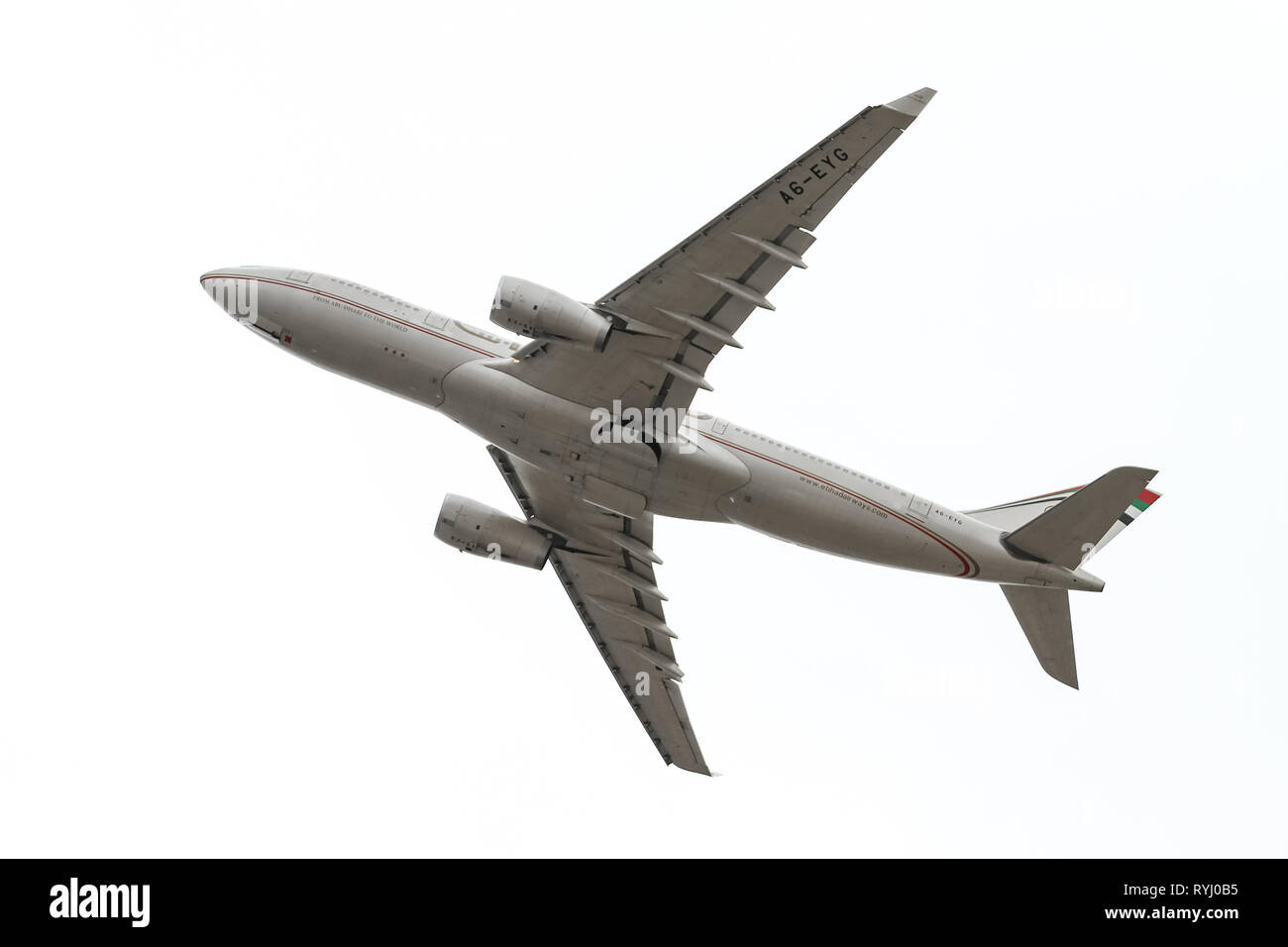 ISTANBUL, TURKEY - SEPTEMBER 30, 2018: Turkish Airlines Airbus A330-243 (CN 724) takes off from Istanbul Ataturk Airport. THY is the flag carrier of T - Stock Image