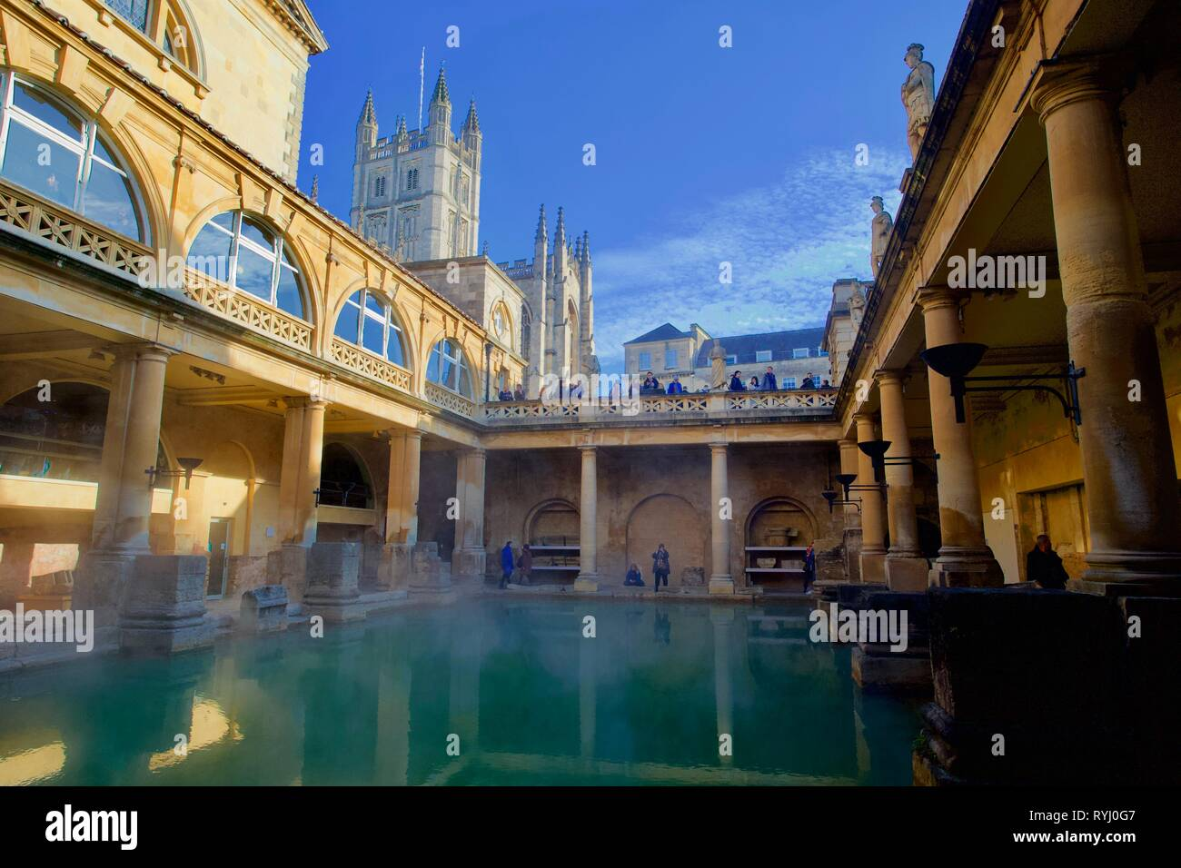 Roman Baths, Bath,Somerset, England - Stock Image