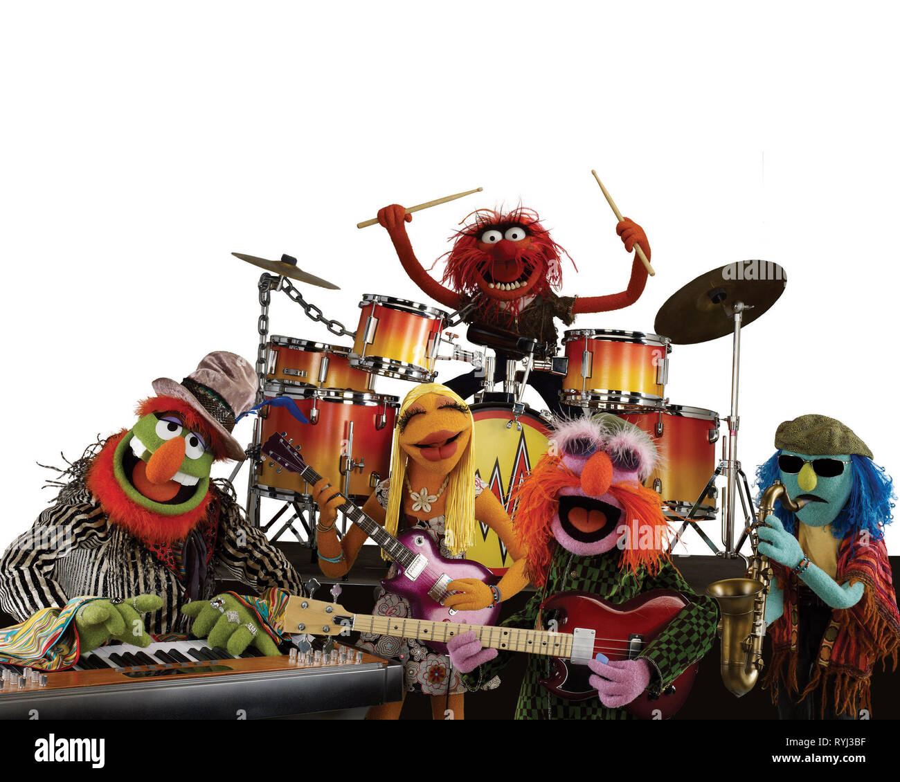 DR. TEETH, JANICE, ANIMAL, FLOYD PEPPER, ZOOT, THE MUPPETS, 2011 - Stock Image