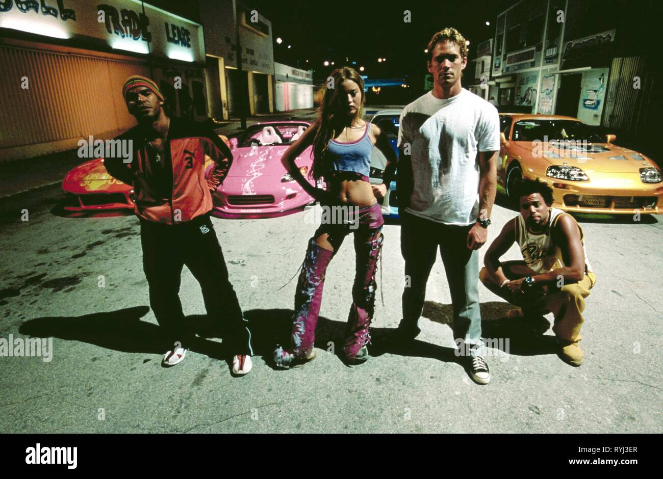 AMAURY NOLASCO, DEVON AOKI, PAUL WALKER, MICHAEL EALY, 2 FAST 2 FURIOUS, 2003 - Stock Image