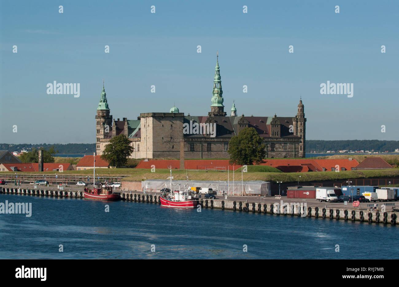 The castle Kronborg at Sjælland, Öresund, Denmark. - Stock Image