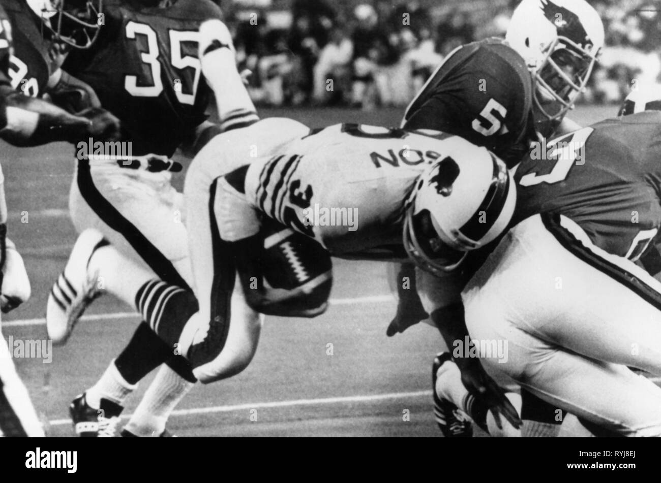 sports, American Football, game Buffalo Bills versus Philadelphia Eagles, circa 1970, Additional-Rights-Clearance-Info-Not-Available - Stock Image