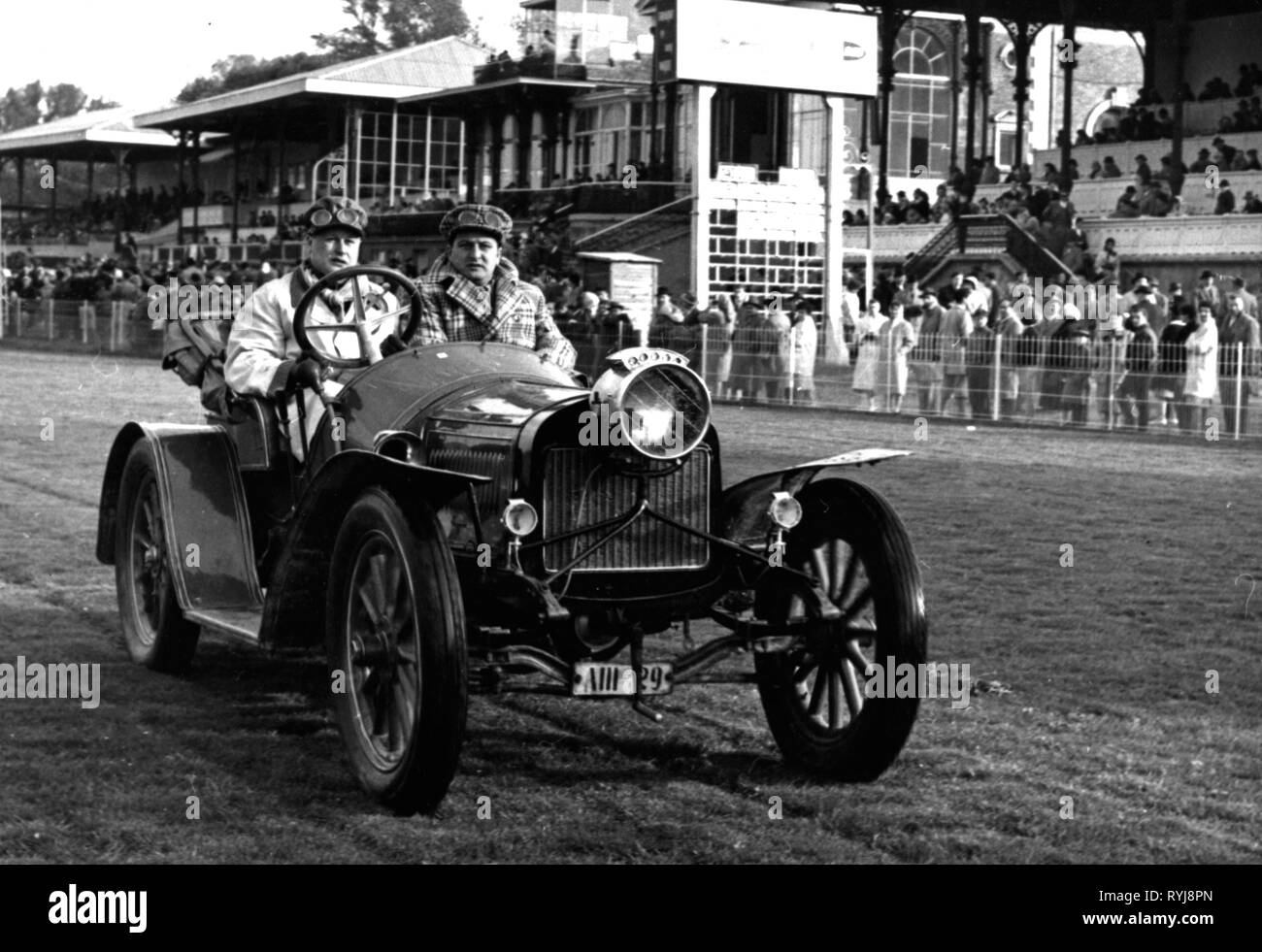 transport / transportation, car, vehicle variants, Laurin and Klement FC from 1908, at an antique car rally, Germany, 1960, Additional-Rights-Clearance-Info-Not-Available - Stock Image