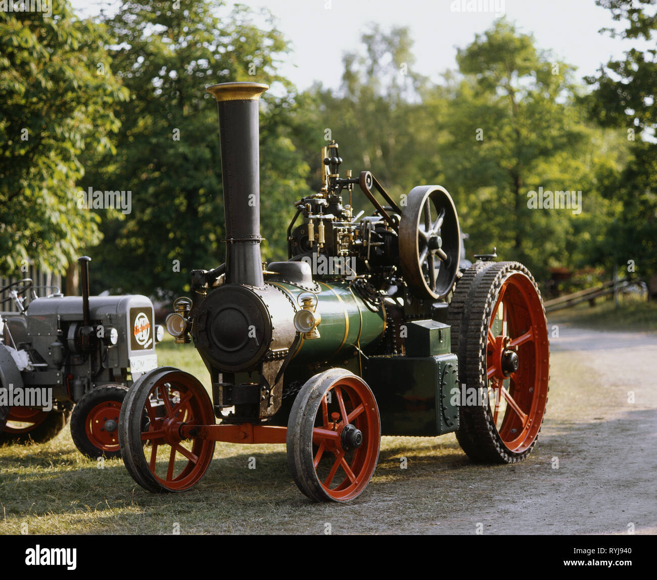 transport / transportation, vehicle, traction engine, tractor, Additional-Rights-Clearance-Info-Not-Available - Stock Image