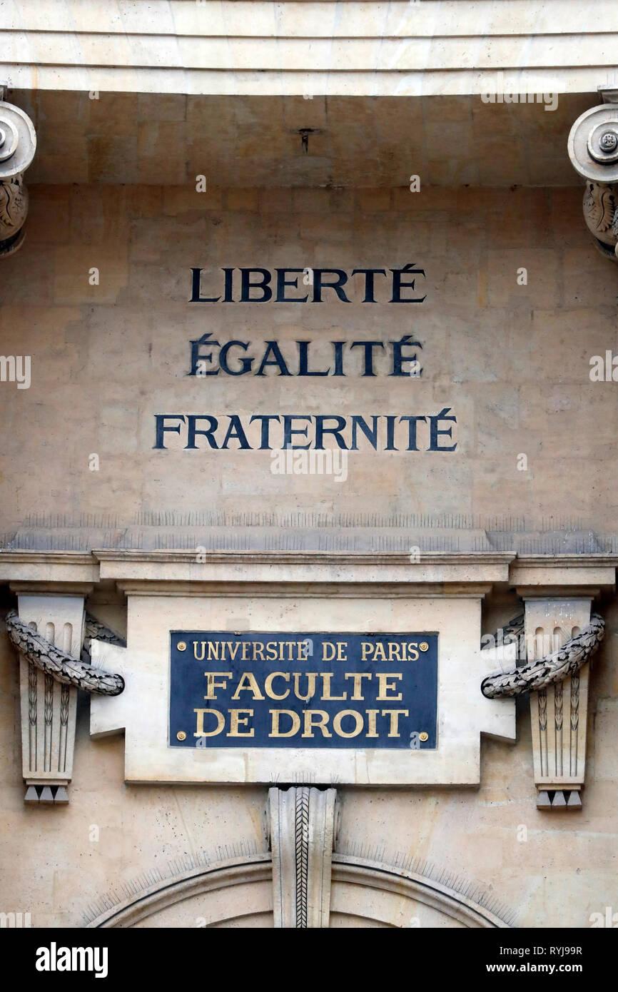 Paris-Sorbonne University.  France. - Stock Image