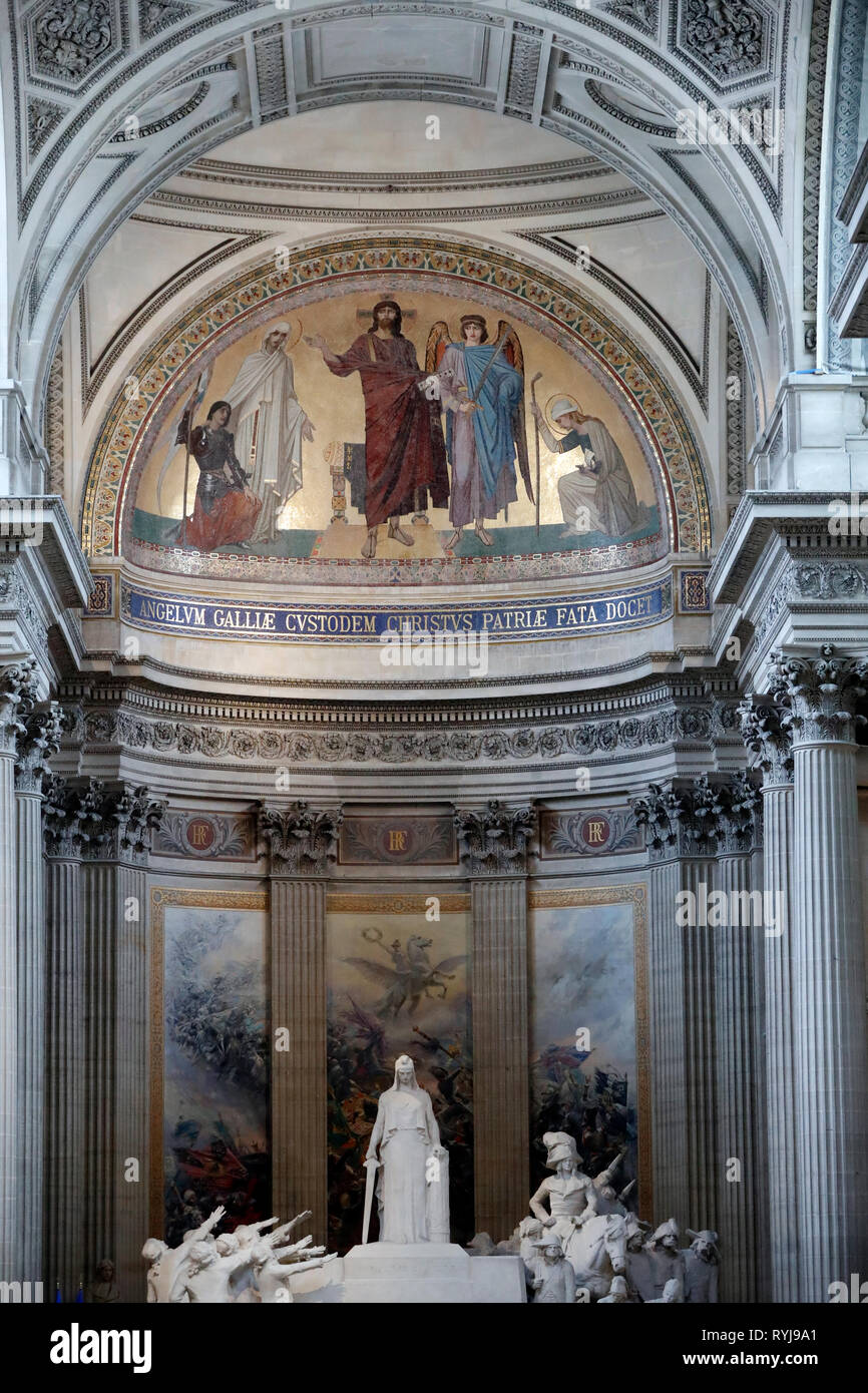 The Pantheon is the burial place for many famous French people.  Paris. France. - Stock Image