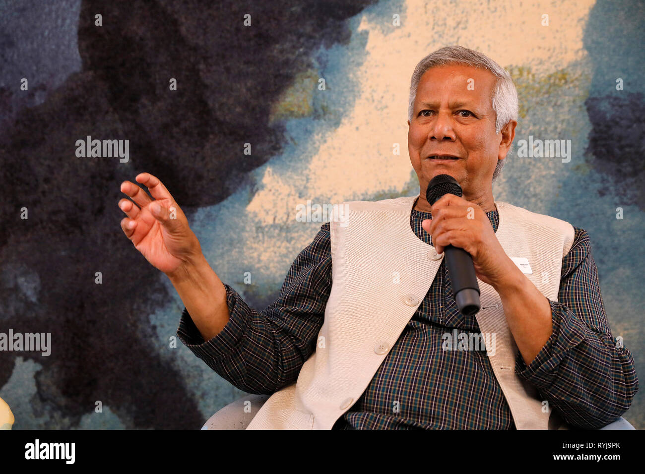 Nobel prize winner Muhammad Yunus, founder of he Grameen Bank. - Stock Image