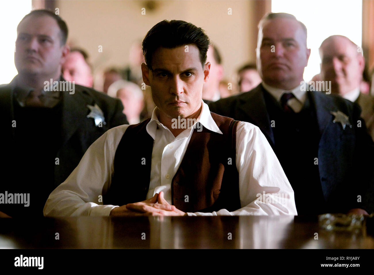JOHNNY DEPP, PUBLIC ENEMIES, 2009 Stock Photo