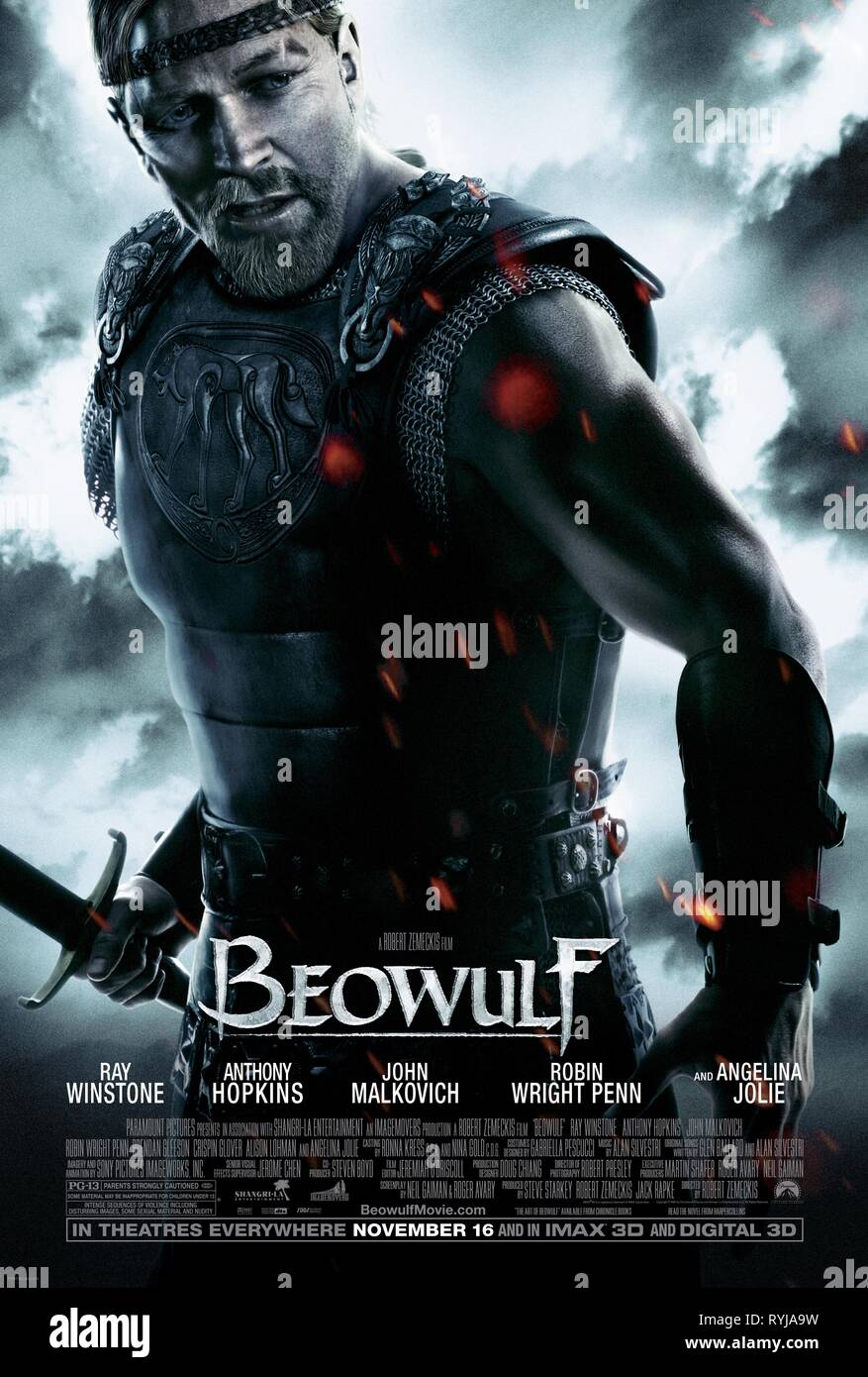 BEOWULF POSTER, BEOWULF, 2007 - Stock Image