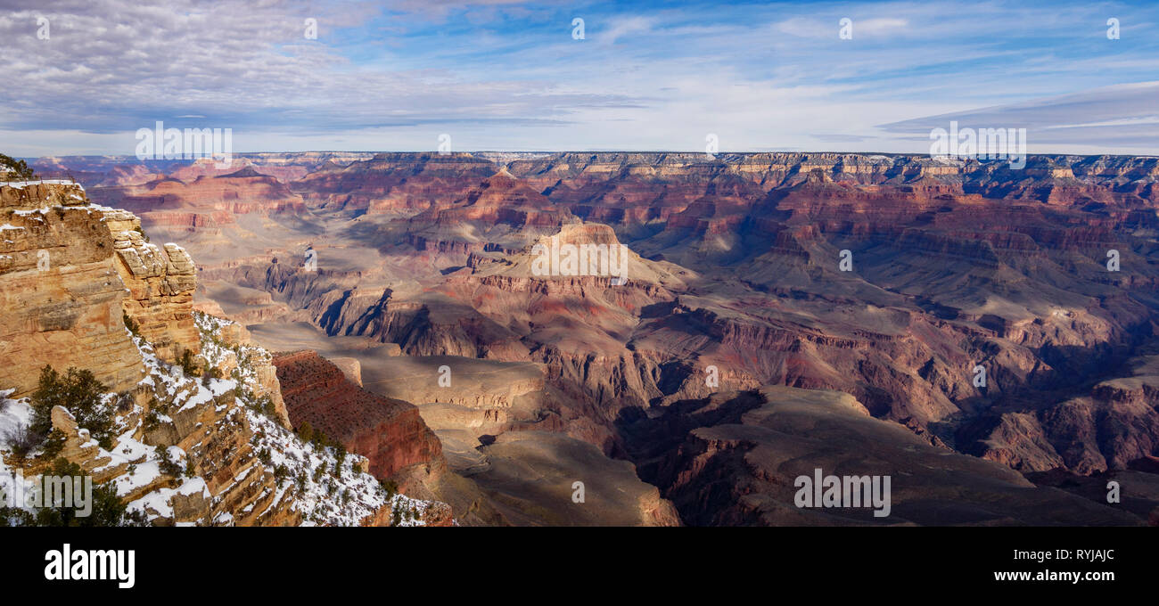 A panoramic view of the Grand Canyon from Mather Point. - Stock Image