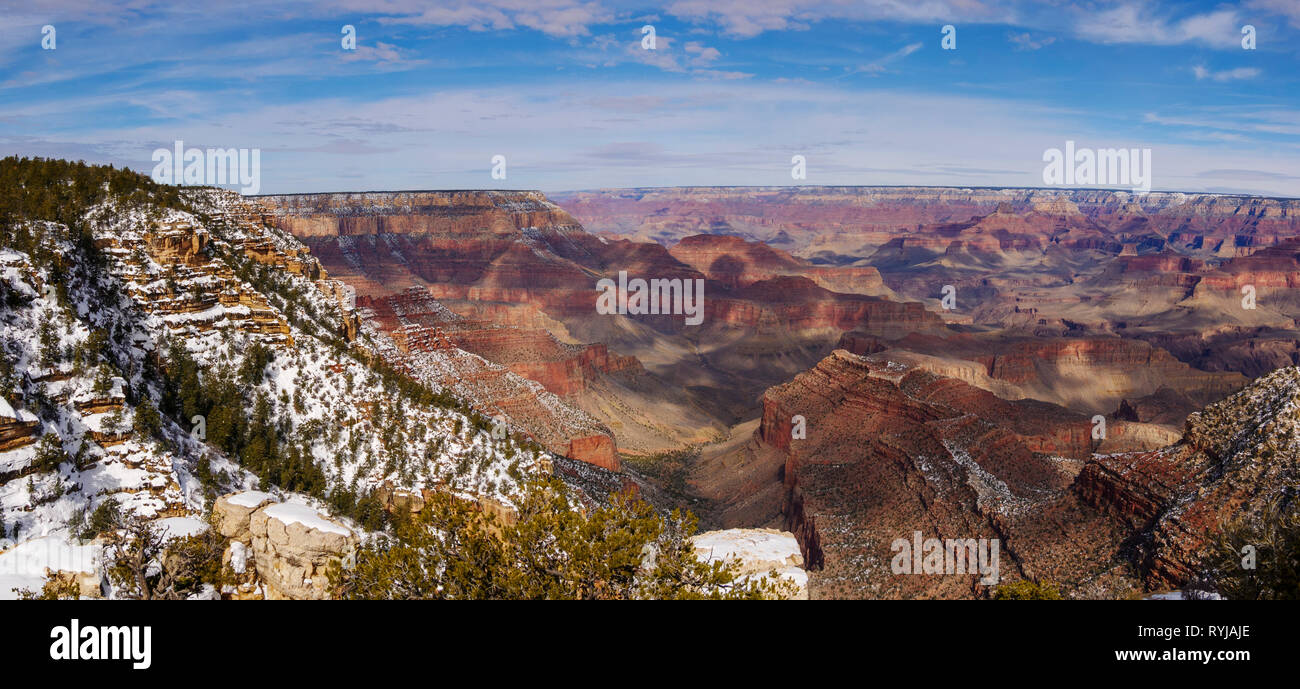 A panoramic view of the Grand Canyon from Grandview Point. - Stock Image