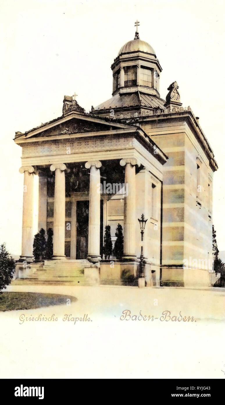Stourdza-Kapelle, 1898, Baden-Württemberg, Baden, Griechische Kapelle - Stock Image