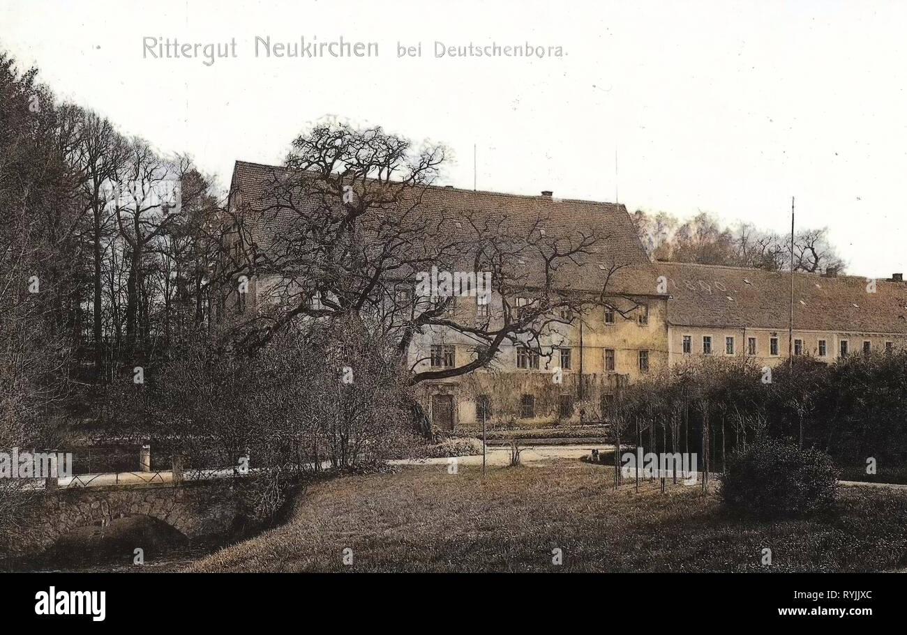 Neukirchen (Reinsberg), Bridges in Landkreis Meißen, Rittergüter in Saxony, 1899, Landkreis Meißen, Neukirchen, Rittergut, Germany - Stock Image