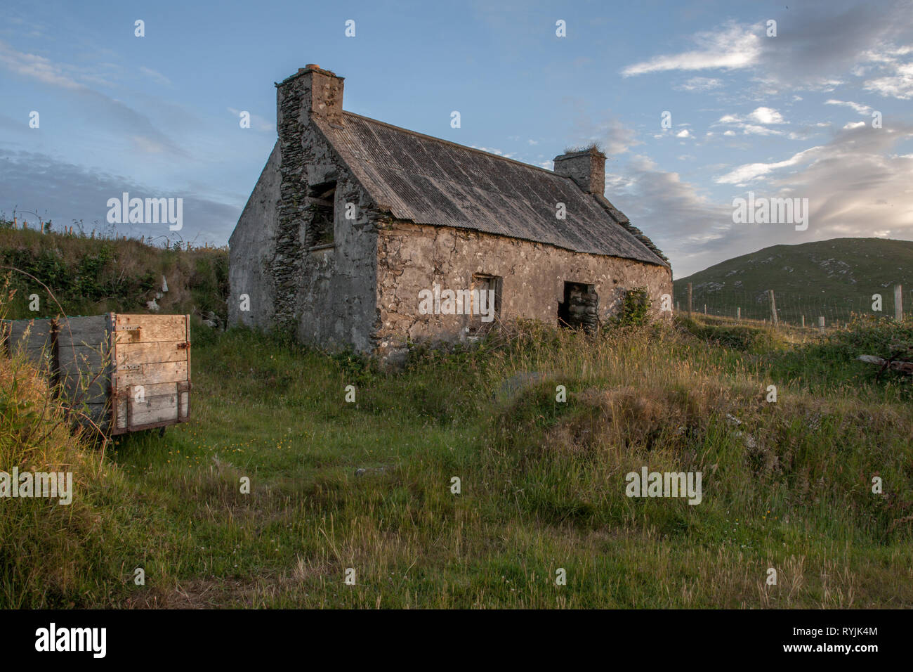 Dursey Island, Cork, Ireland. 18th June, 2016  An old abandoned home in the townland of Kilmichael on Dursey Island, Co. Cork, Ireland. - Stock Image