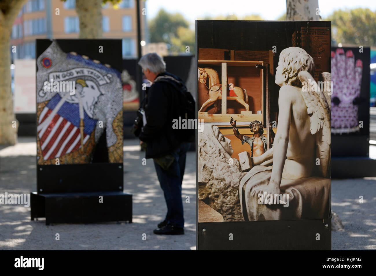 Festival Images. Visual arts biennal of Vevey.  Switzerland. - Stock Image