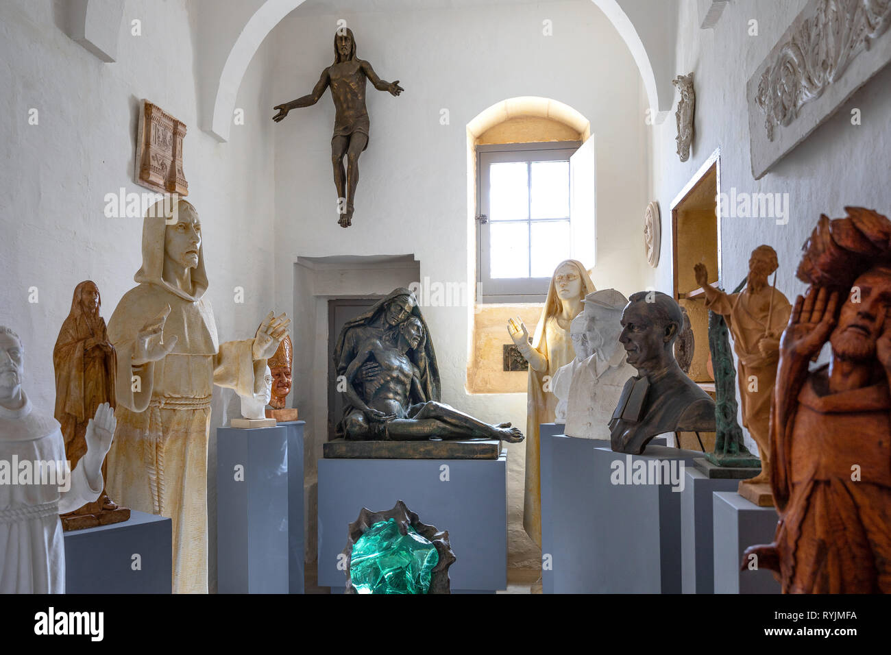 Malta, Rabat, St Paul Church, staues in the Vignacourt exibition - Stock Image