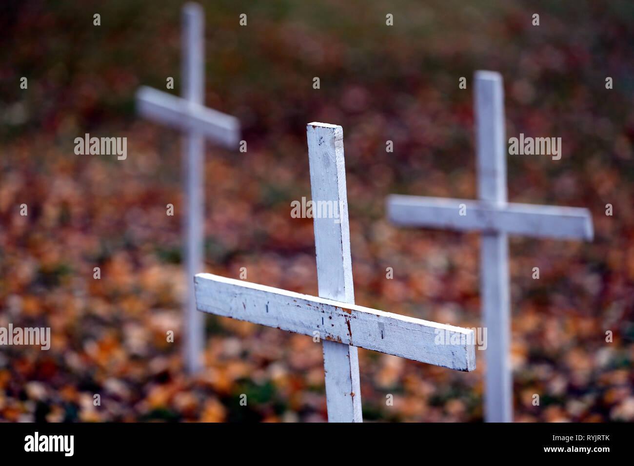 Graveyard.  Hamar. Norway. Stock Photo