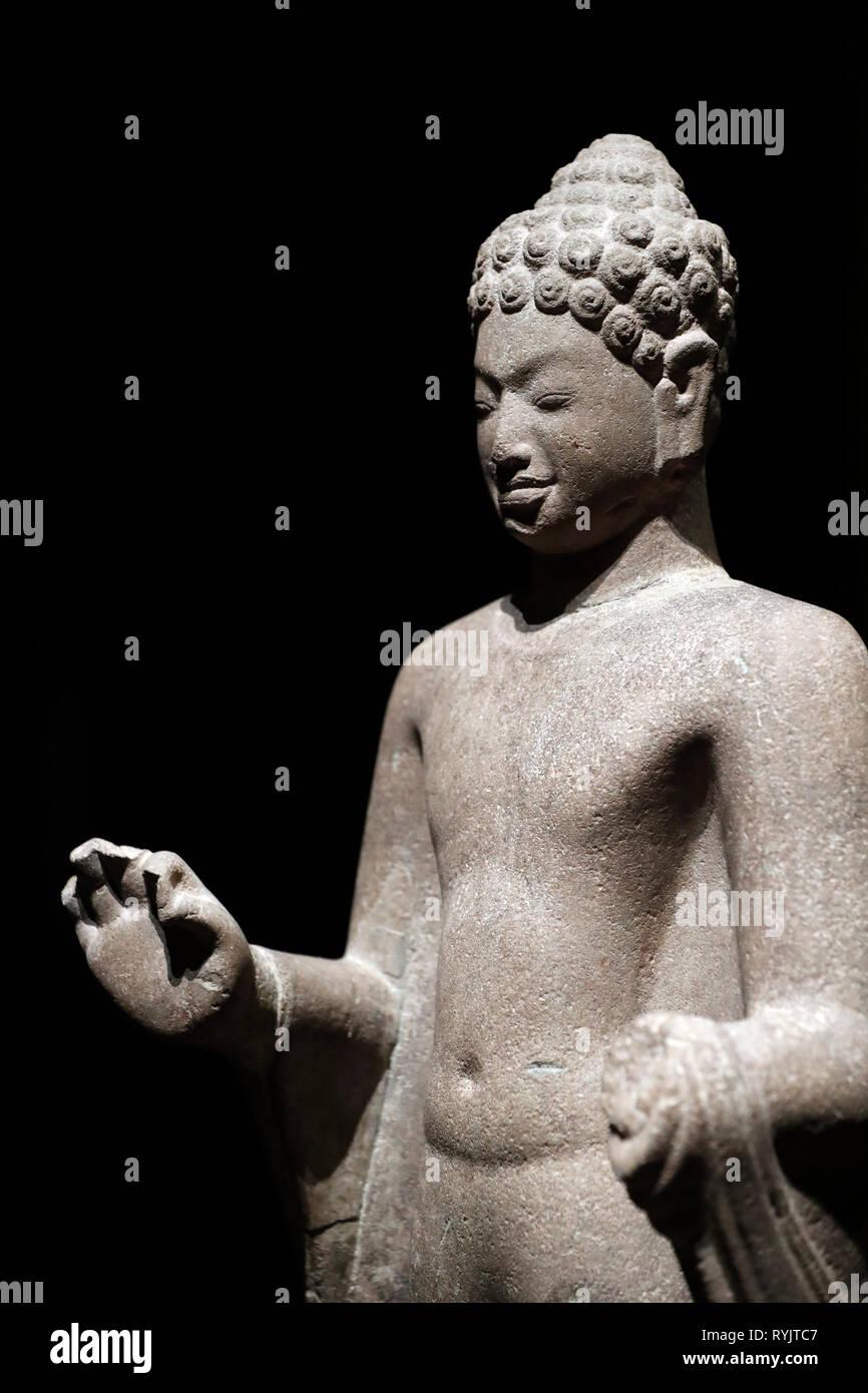 Asian Civilisations Museum. Angkor. Exploring Cambodia's sacred city.  Singapore. - Stock Image