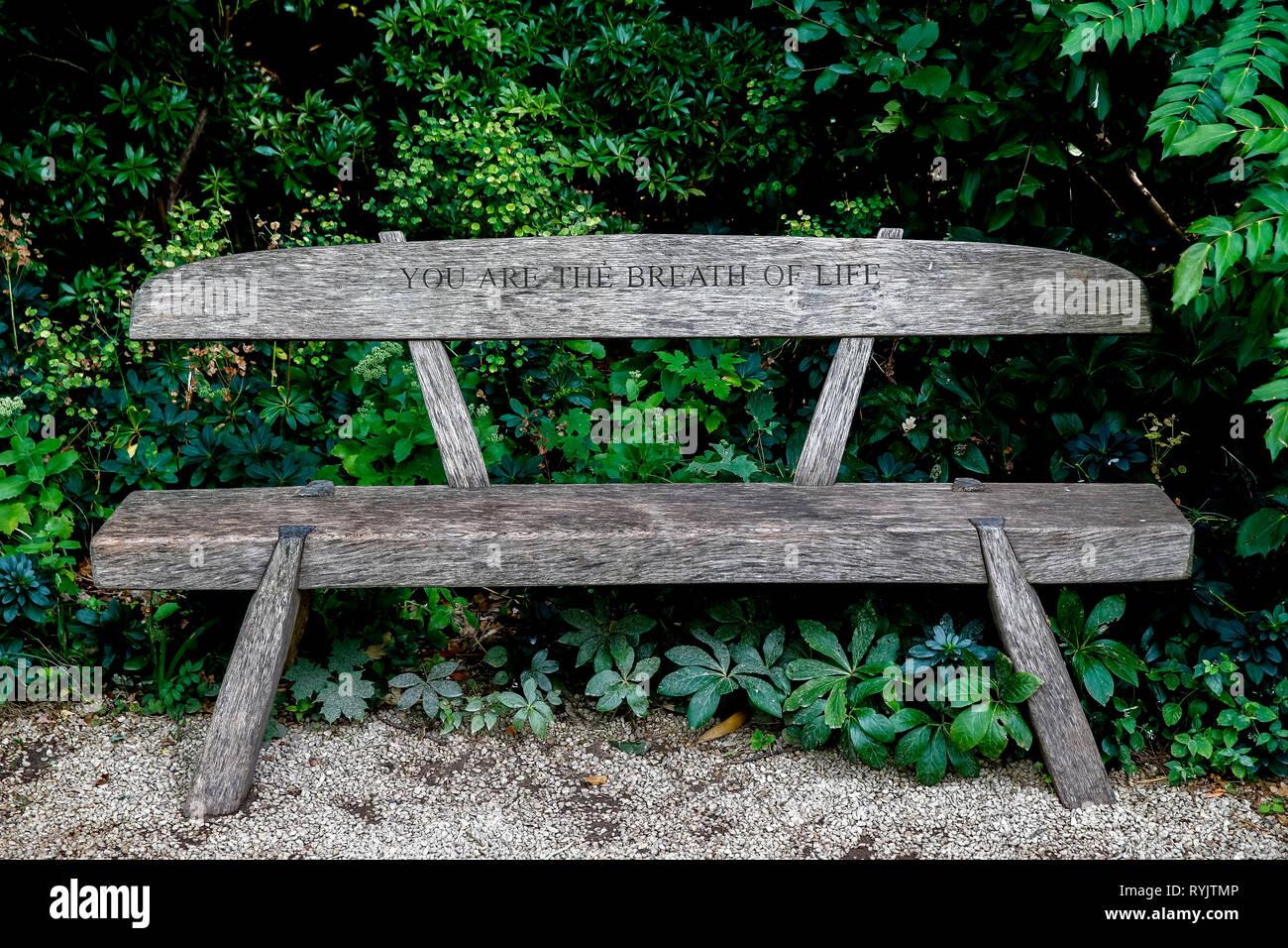 The George Harrison garden, Bhaktivedanta manor, Watford, U.K. - Stock Image