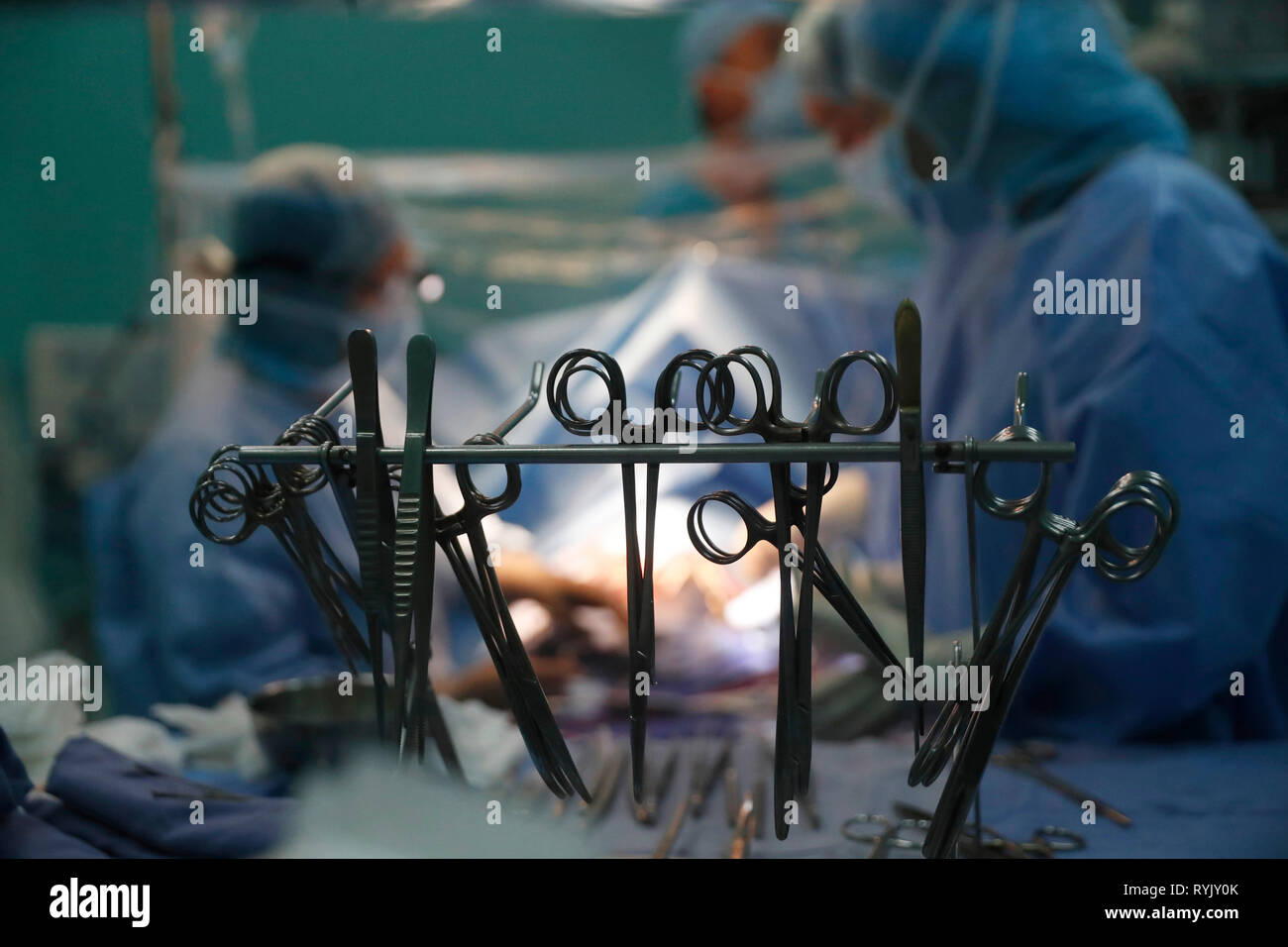 Tam Duc Cardiology Hospital. Operating theater. Cardiac surgery.  Ho Chi Minh City. Vietnam. - Stock Image