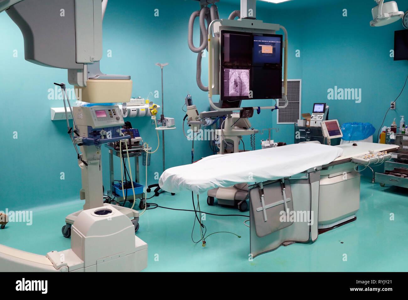 Tam Duc Cardiology Hospital. Diagnostic radiology. Angiography. Ho Chi Minh City. Vietnam. - Stock Image