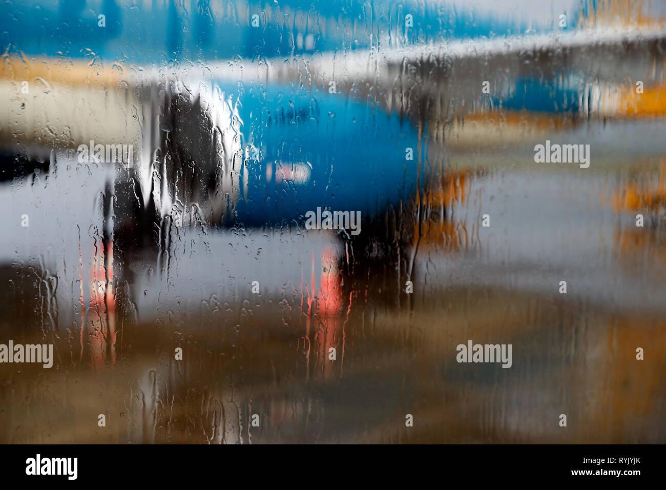 Phuc Quoc airport. Rainy season.  Ho Chi Minh City. Vietnam. - Stock Image