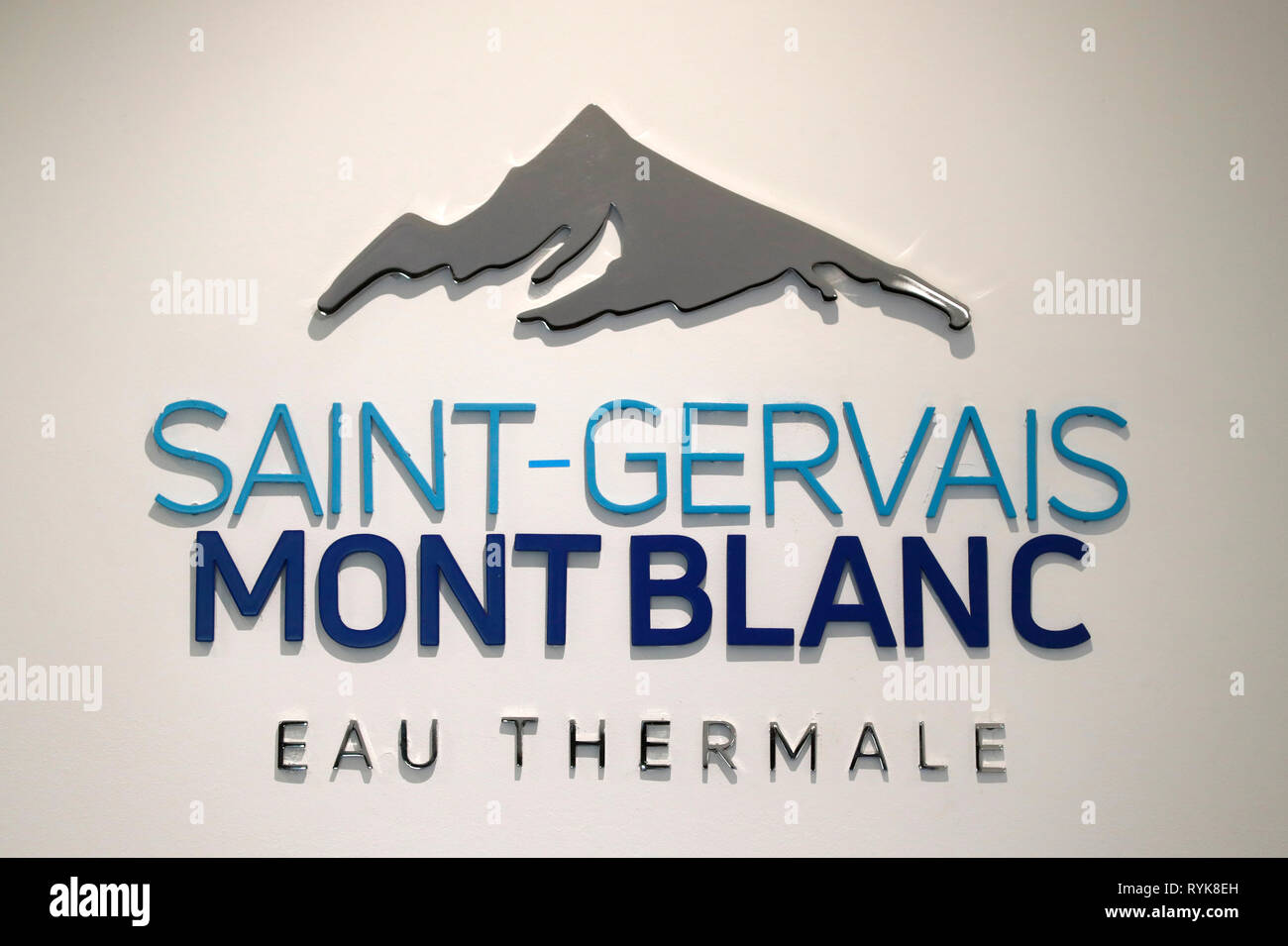 Saint-Gervais Mont-Blanc thermal spa.  France. - Stock Image