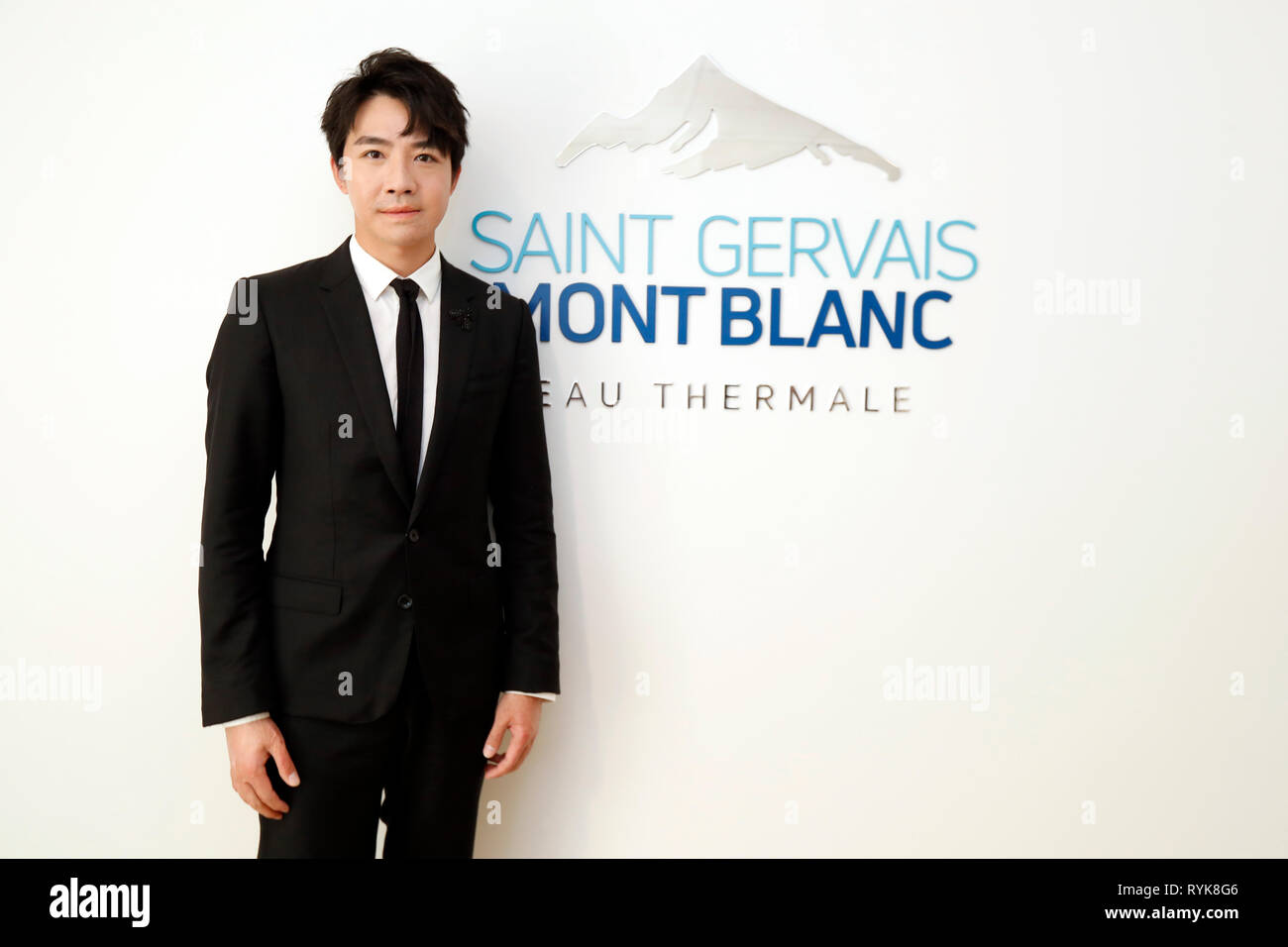 Saint-Gervais Mont-Blanc thermal spa. Yu Haoming. 0pening ceremony on Sept 29 2018.  France. - Stock Image