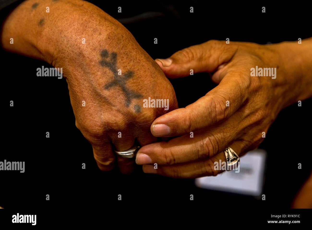 Egyptian coptic christians celebrating Easter in Jerusalem, Israel. - Stock Image