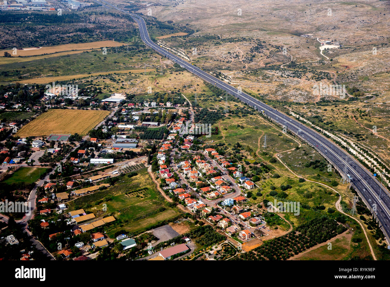 Aerial view of the coastal area near Tel Aviv, Israel. Stock Photo