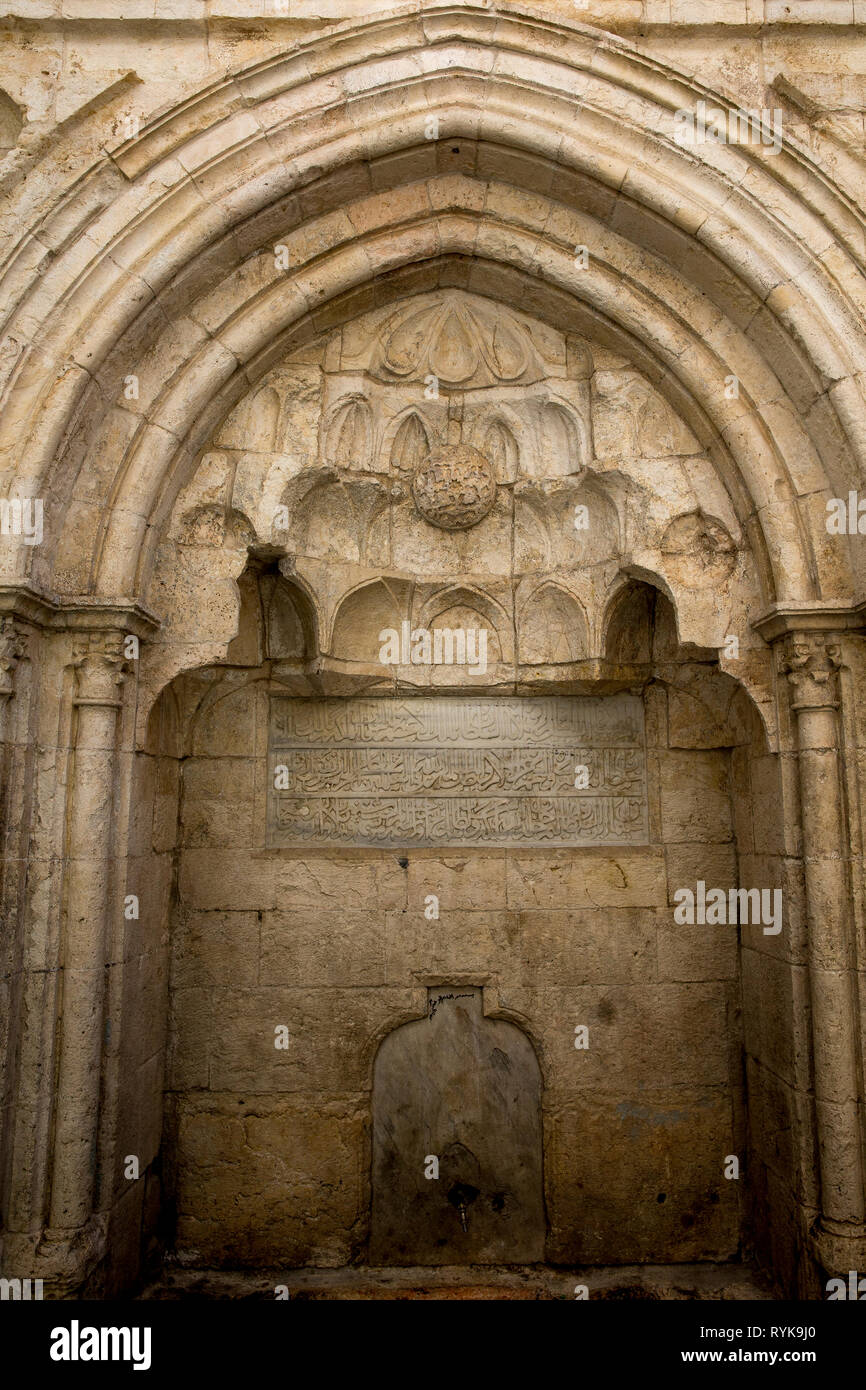 Sabil public water fountain built by order of Soliman the Magnificent in Camera in Jerusalem Old City, Israel. - Stock Image