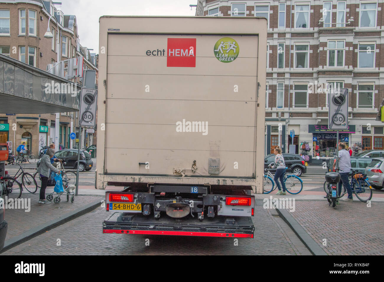 Backside Of A Hema Shop Truck At Amsterdam The Netherlands