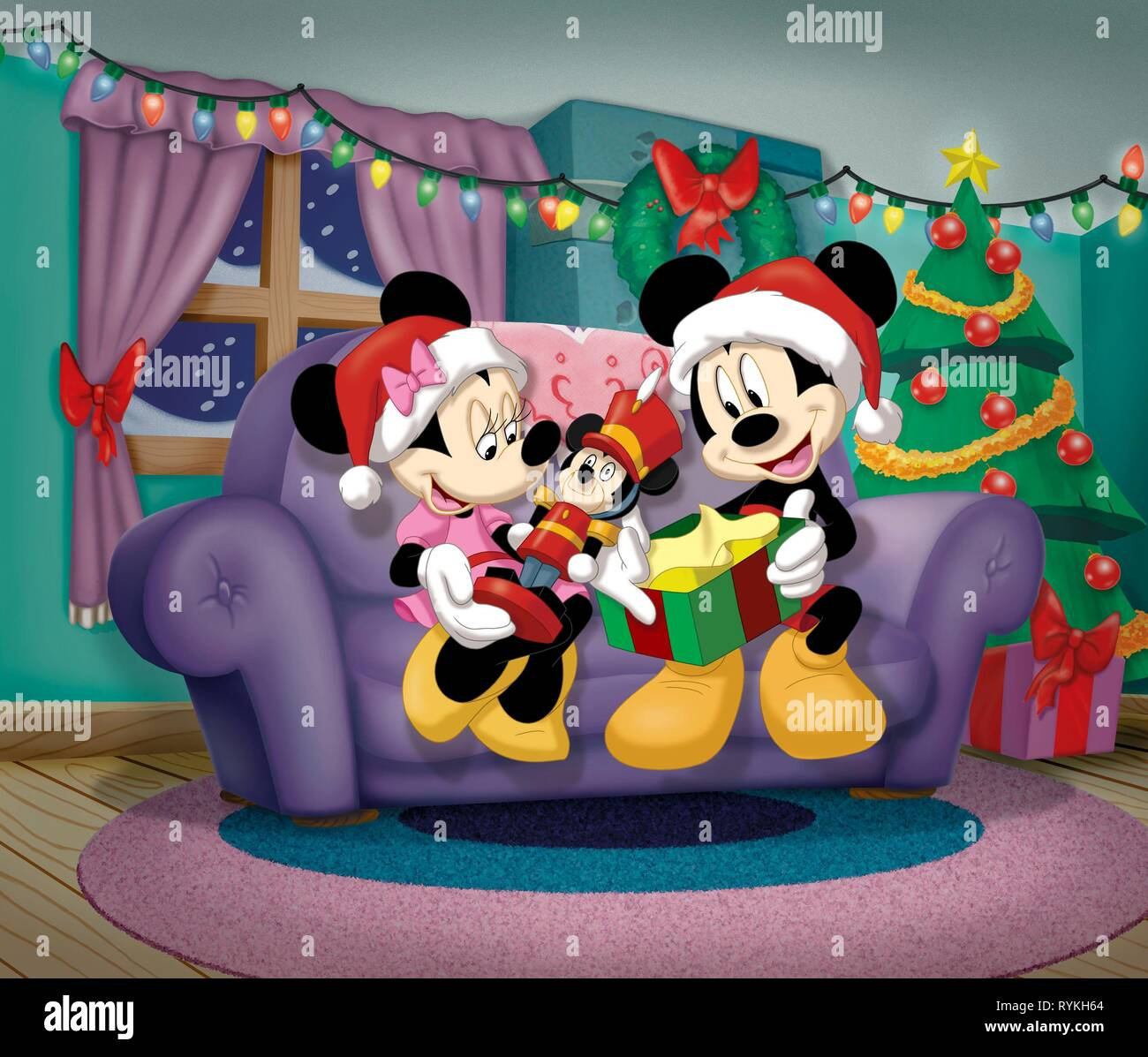 MOUSE,MOUSE, MICKEY'S MAGICAL CHRISTMAS: SNOWED IN AT THE HOUSE OF MOUSE, 2001 - Stock Image