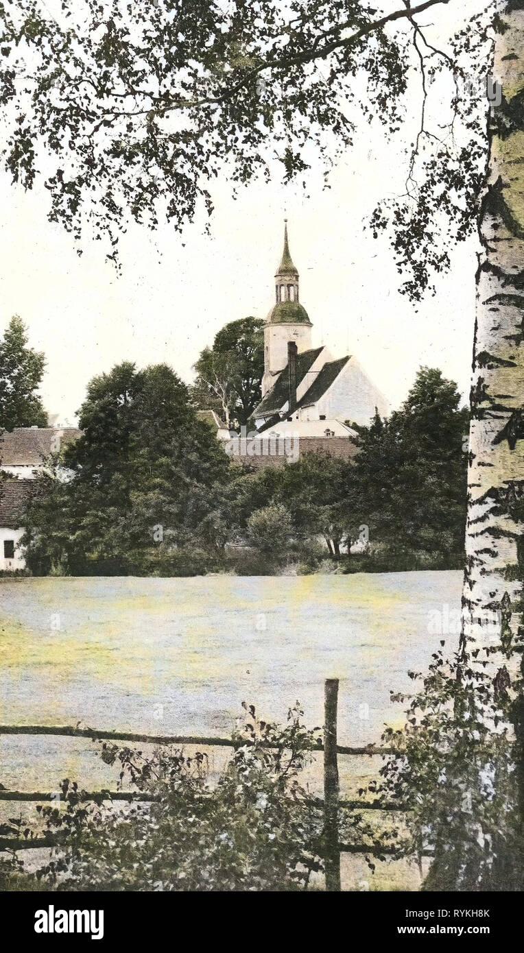 Betula in Saxony, Churches in Landkreis Bautzen, Krakau (Sachsen), 1915, Landkreis Bautzen, Krakau, Kirche, Germany - Stock Image