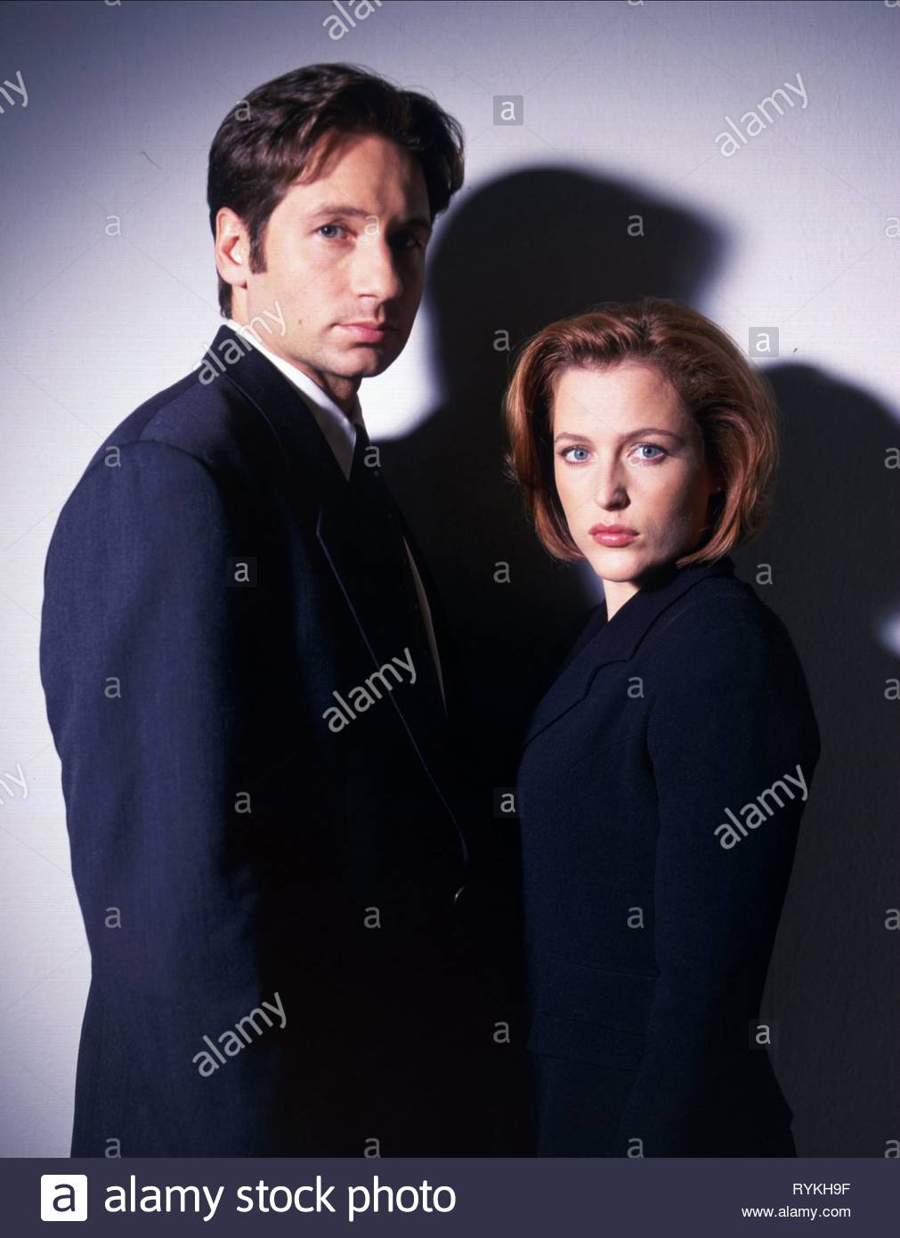 DUCHOVNY,ANDERSON, THE X FILES, 1993 - Stock Image