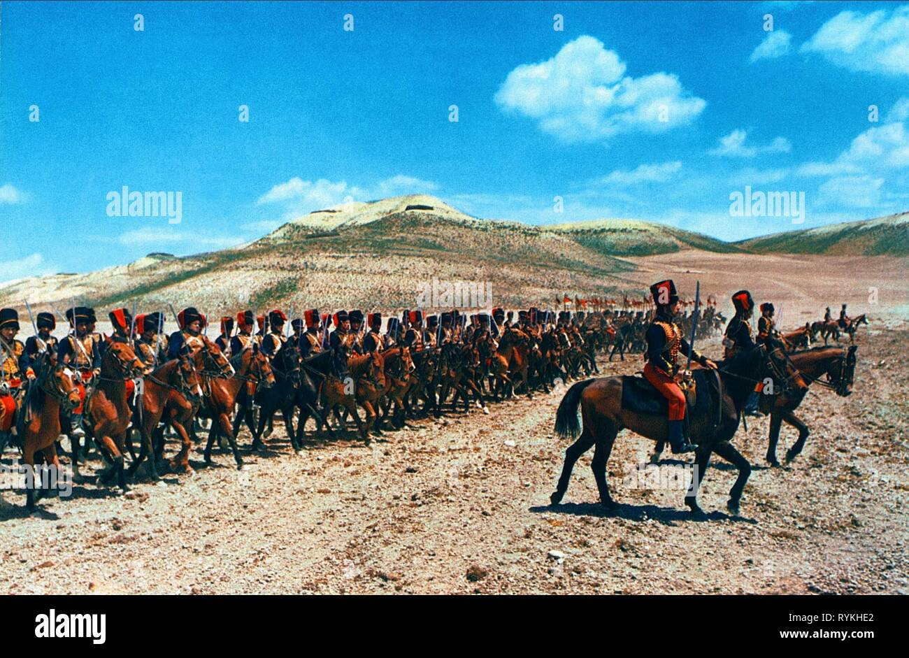 BATTLE SCENE, THE CHARGE OF THE LIGHT BRIGADE, 1968 - Stock Image