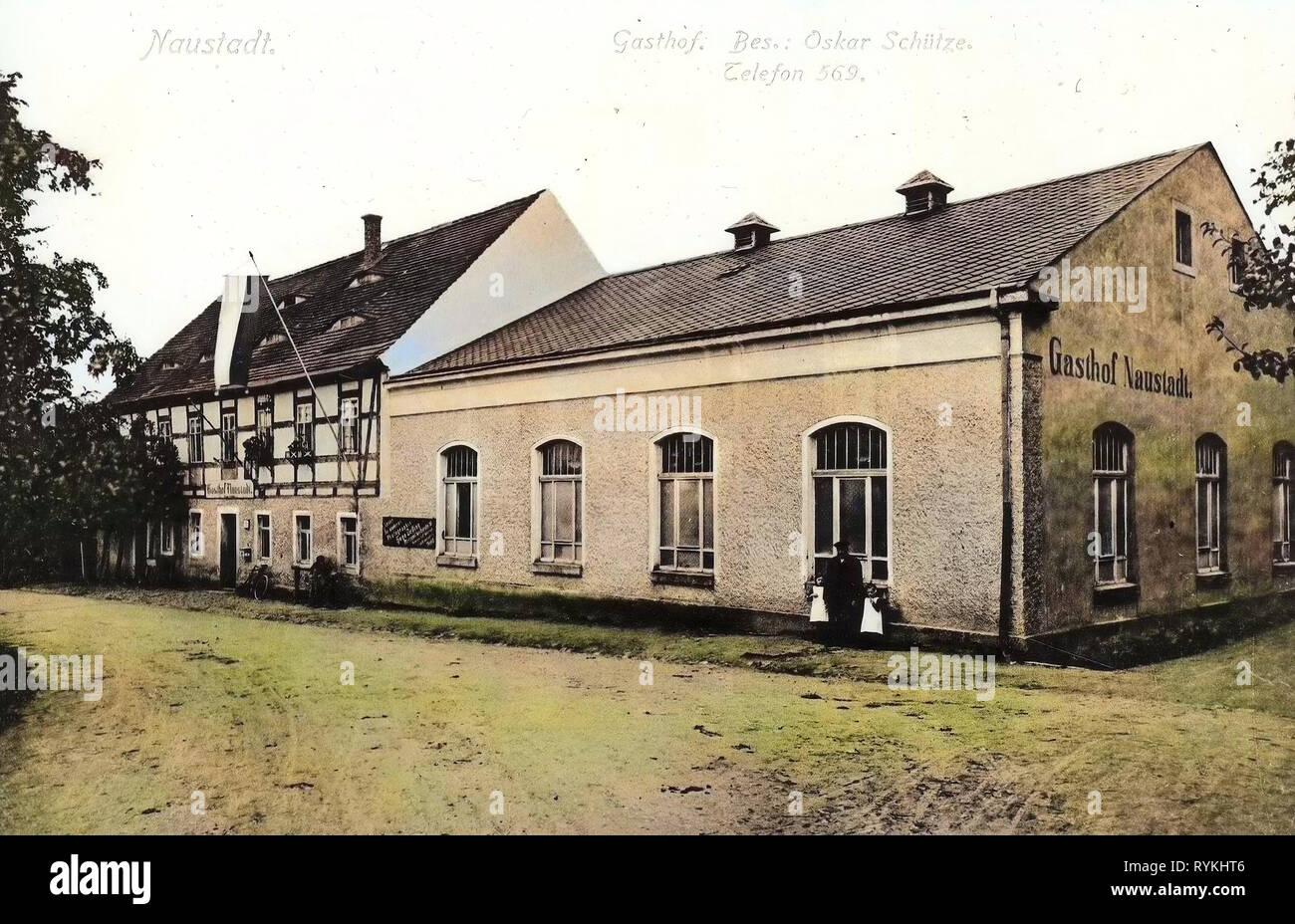 Restaurants in Landkreis Meißen, Klipphausen, 1915, Landkreis Meißen, Naustadt, Gasthof, Besitzer Oskar Schütze, Germany Stock Photo
