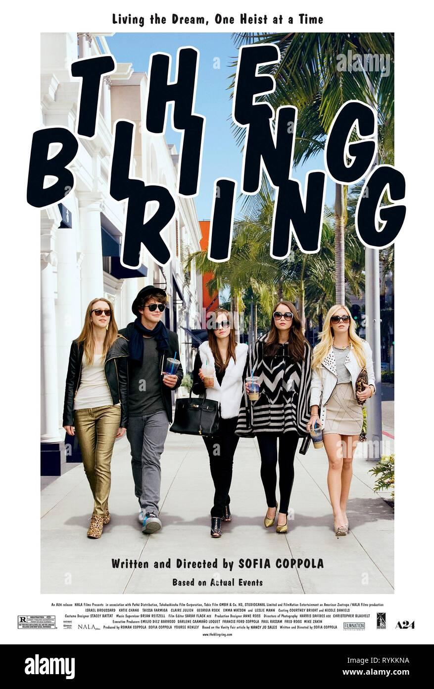 FARMIGA,BROUSSARD,WATSON,CHANG,POSTER, THE BLING RING, 2013 - Stock Image