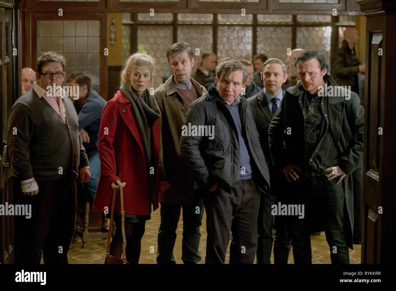 FROST,PIKE,CONSIDINE,MARSAN,FREEMAN,PEGG, THE WORLD'S END, 2013 - Stock Image