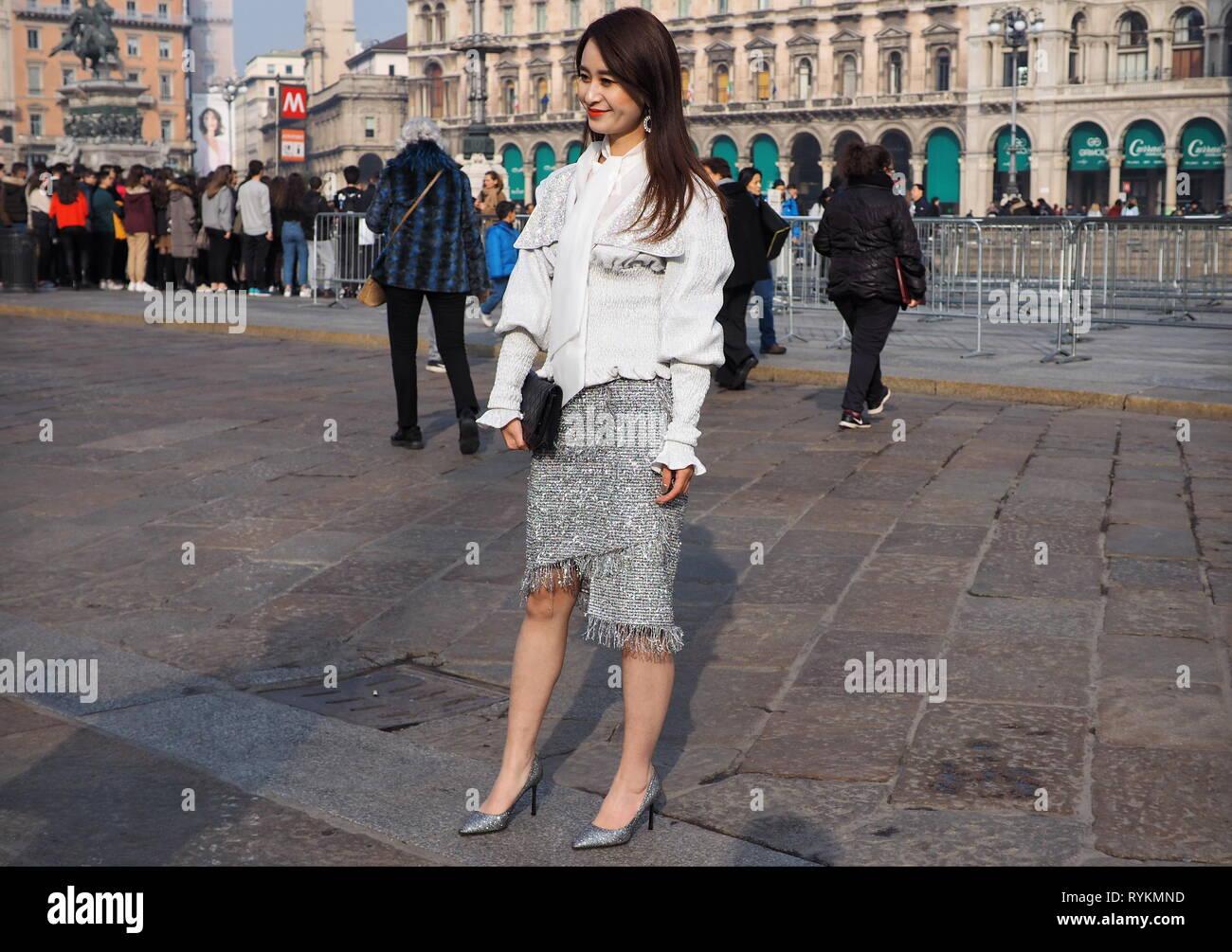 Milano, Piazza Duomo - Stock Image