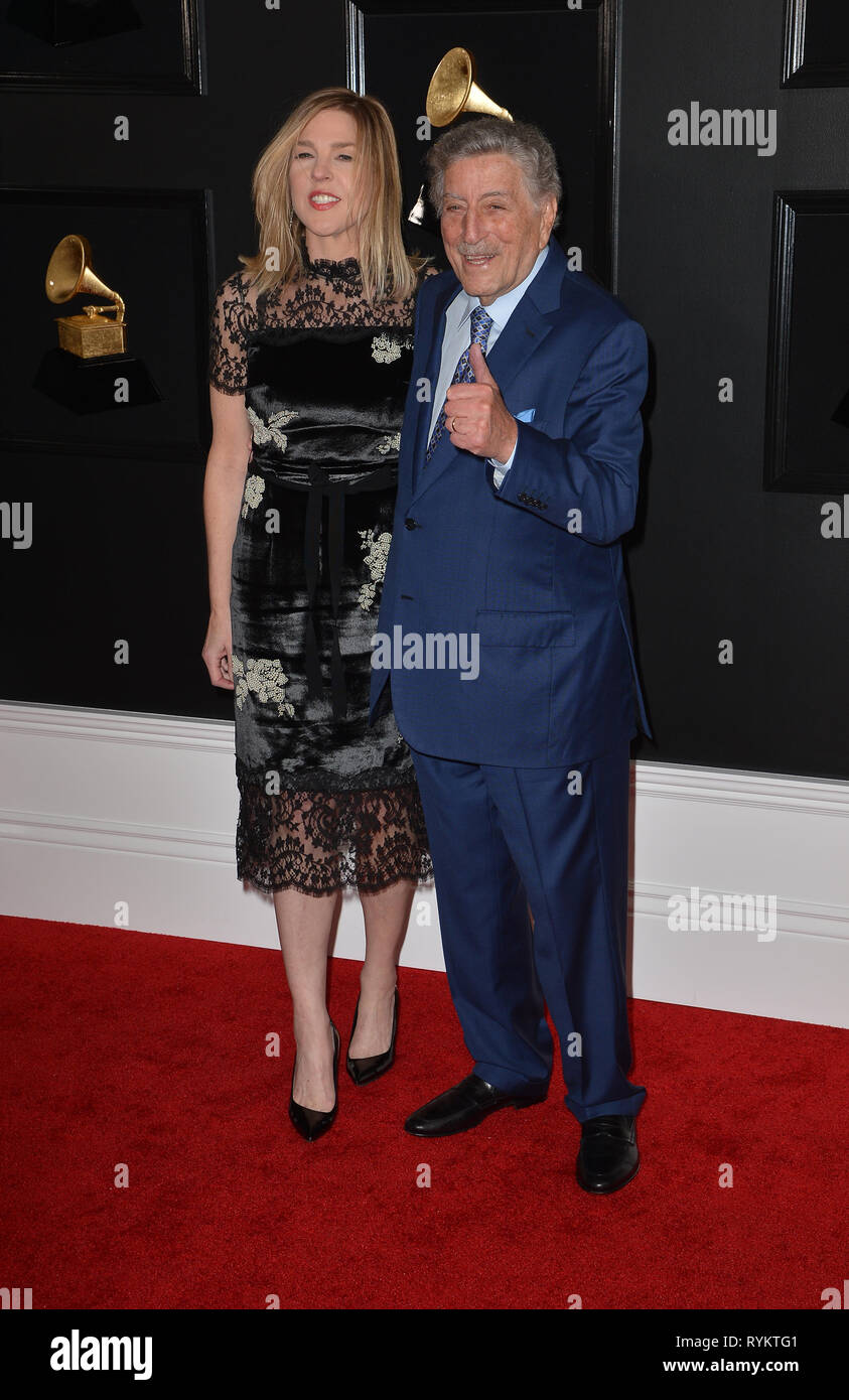 61st Annual GRAMMY Awards  Featuring: Tony Bennett, Susan Crow Where: Los Angeles, California, United States When: 10 Feb 2019 Credit: FayesVision/WENN.com - Stock Image