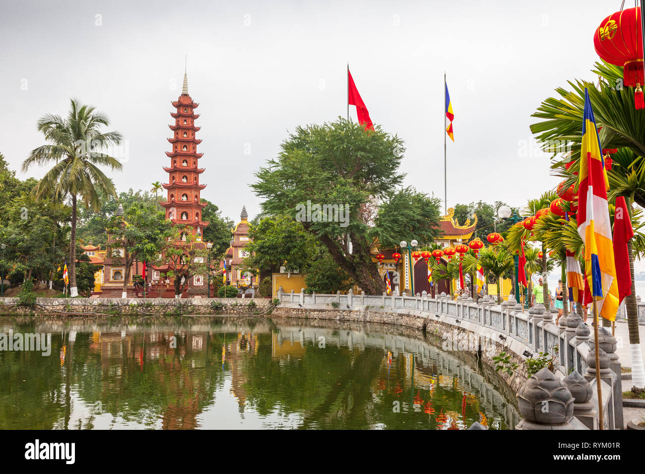 Tran Quoc Pagoda (Chua Tran Quoc) is the oldest pagoda in Hanoi, originally constructed in the sixth century during the reign of Emperor Ly Nam De. - Stock Image