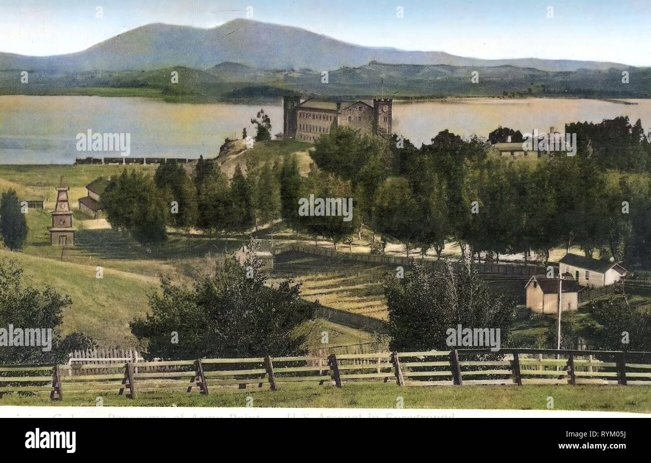 Arsenals in the United States, Benicia, California, 1906, Panorama of Army Point, U.S. Arsenal in Foreground - Stock Image