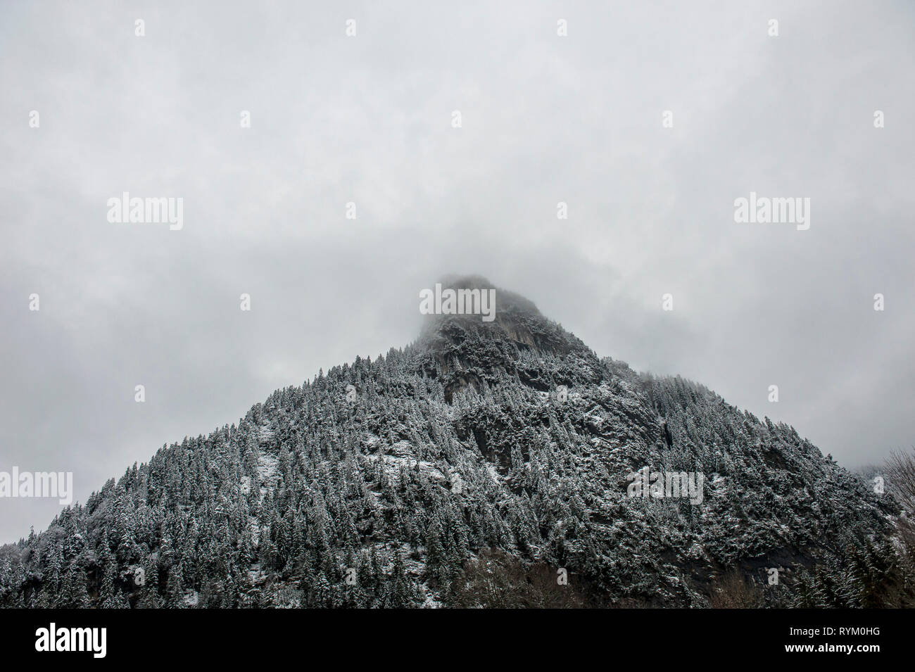 Kofel (Mountain) Oberammergau, Bavaria, Germany - Stock Image